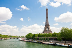 Eiffel Tower and Seine Royalty Free Stock Images