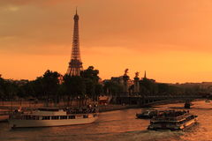 Eiffel Tower and Seine Stock Image