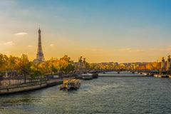 Eiffel Tower and the Seine Royalty Free Stock Image