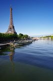 Eiffel tower and seine river Royalty Free Stock Images