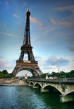 Eiffel tower and Seine river Royalty Free Stock Photos