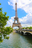 The Eiffel Tower and Seine River - Paris Stock Photo