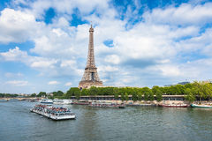 The Eiffel Tower and seine river in Paris, France Stock Photography