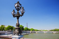 Eiffel Tower and Seine river, Paris, France. Royalty Free Stock Photos