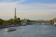 Eiffel Tower and the Seine River, Paris Stock Photography