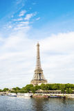 Eiffel tower and Seine river view Royalty Free Stock Photos