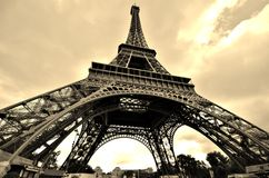 Eiffel Tower Sepia Royalty Free Stock Images