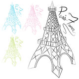 Eiffel Tower Set Royalty Free Stock Photo