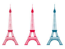 Eiffel Tower. Set of  objects. Vector illustration. Stock Image