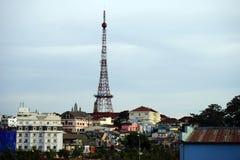 Eiffel Tower shape telecommunications tower Stock Photography