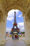 Eiffel tower at shenzhen window of the world Stock Photos