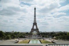 Eiffel Tower. Shot from Place du Trocadéro in june 2017 Stock Image
