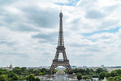 Eiffel Tower. Shot from Place du Trocadéro in june 2017 Royalty Free Stock Image