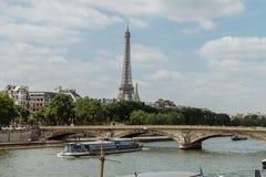 Eiffel Tower. Shot from The Pont alexander III, Paris Stock Photos