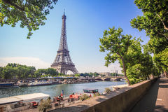 Eiffel Tower and Siene River Stock Image