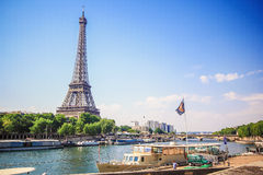 Eiffel Tower and Siene River Stock Photography