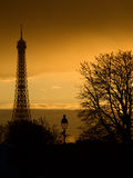 Eiffel tower silhouette Royalty Free Stock Images