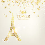 Eiffel tower silhouette. Royalty Free Stock Image
