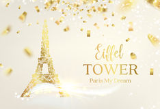 Eiffel tower silhouette. Royalty Free Stock Photo