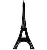 Eiffel tower silhouette vector. Vectored illustration of paris eiffel tower with high details level, isolated Royalty Free Stock Photography
