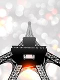 Eiffel Tower in the silver morning mist. Royalty Free Stock Photos