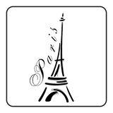 Eiffel Tower in a simple sketch style Royalty Free Stock Images