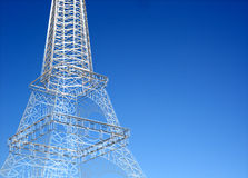 Eiffel tower sketch against clear sky Royalty Free Stock Photo