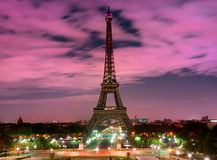 Eiffel Tower and sky Stock Image