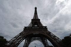 Eiffel Tower, sky, cloud, landmark, tower. Eiffel Tower is sky, tower and tourist attraction. That marvel has cloud, tree and monument and that beauty contains royalty free stock images