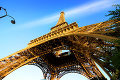 Eiffel Tower and sky Royalty Free Stock Photo