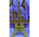 Eiffel Tower. Smile yellow face Royalty Free Stock Images