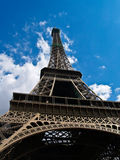 Eiffel tower soaring skyward. Royalty Free Stock Photos