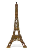 Eiffel tower souvenir. Eiffel tower bronze souvenir isolated on white background Royalty Free Stock Images