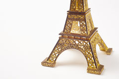 Eiffel tower souvenir detail isolated on white. France Paris tou Stock Images
