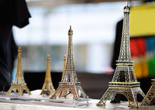 Eiffel tower souvenirs Royalty Free Stock Photography