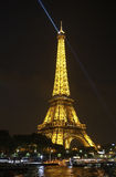 Eiffel Tower Spotlight Stock Photography