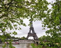 Eiffel Tower at Spring Royalty Free Stock Photos