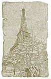 Eiffel Tower in spring Stock Photo