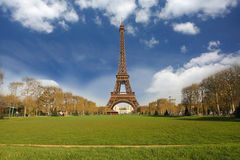 Eiffel Tower with spring park, Paris, France Stock Image