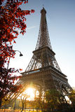 Eiffel Tower with spring park, Paris, France Stock Photography