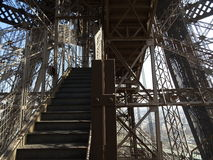 Eiffel Tower Staircase #1 Royalty Free Stock Image