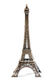 Eiffel Tower Statue. Isolated on a white background Stock Photography