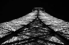 Eiffel Tower Steel At Night Royalty Free Stock Images