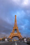 Eiffel Tower on a stormy evening Royalty Free Stock Image