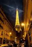 Eiffel Tower and street Stock Photo