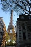 Eiffel Tower street view spring Royalty Free Stock Photos