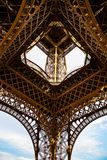 The Eiffel Tower structure, Paris. France Royalty Free Stock Photos