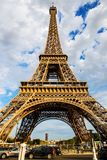 The Eiffel Tower structure, Paris. France Royalty Free Stock Images