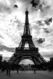 The Eiffel Tower structure, Paris. France Stock Photos