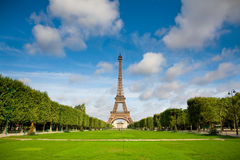 The Eiffel Tower. Summer Stock Image